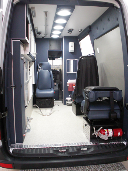144 Sprinter 3 seat configuration by Miller Coach