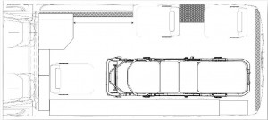 floor plan of the type 2 ambulance