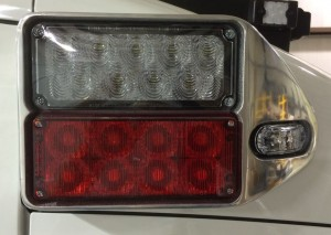 corner pod lights on ford transit type 2 ambulance